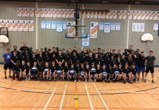 Photo de groupe camp mini-basket 2019