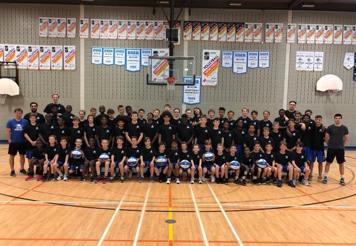 Photo de groupe camp mini-basket 2019